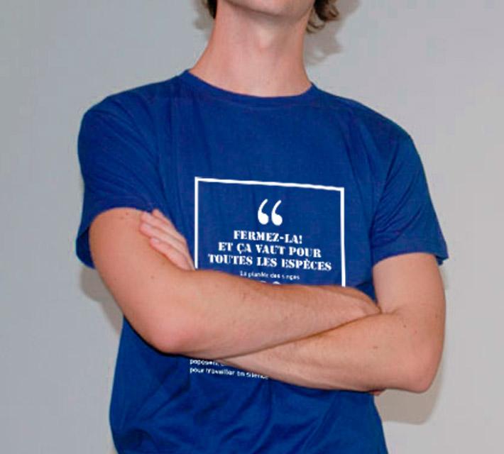 T-Shirt-Bleu